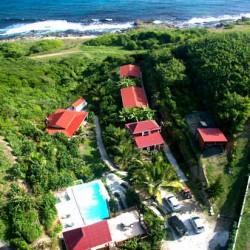 Domaine touristique à vendre en Guadeloupe, villas en bord de mer