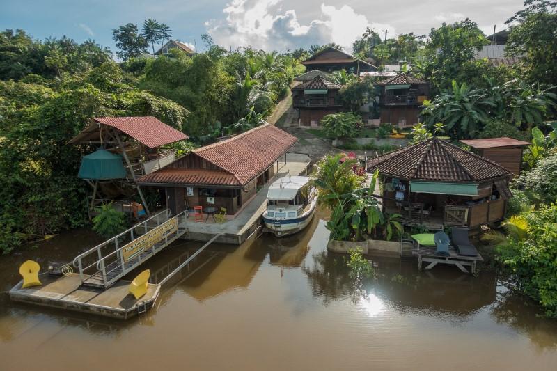 Gîte Amazonien avec base nautique (Guyane, 30mn Cayenne)